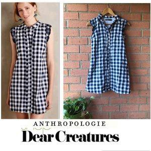 Dear Creatures Anthro Gingham Trinette Shirtdress
